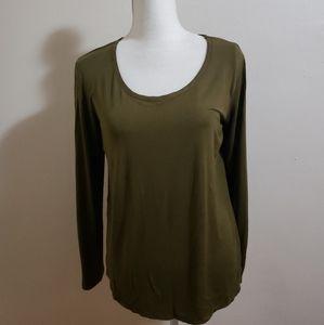 Bordeaux green top blouse read*
